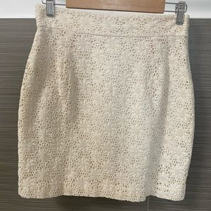 French Connection Floral skirt in Ivory